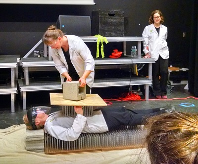 Bed of Nails: What's with the cinder block?