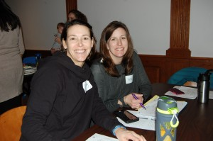 Instructors Pearl and Sahr at the all staff meeting.