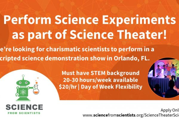 Ad for Science Theater Scientist.