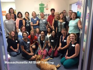 Massachusetts All-Staff Training group photo.