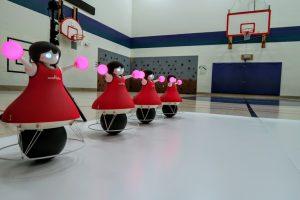 Murata robots performing routine.