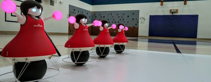 Murata robots performing routine.