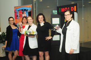 Staff posing with experiments.