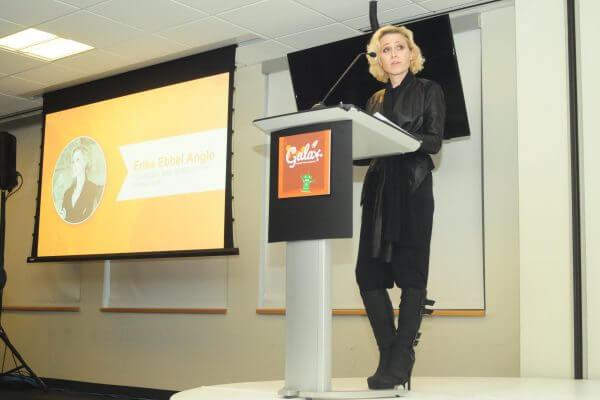 Dr. Erika Angle speaks at Gala.