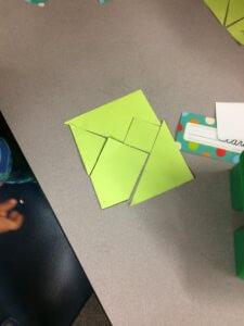 A 5 piece shape puzzle is shown.