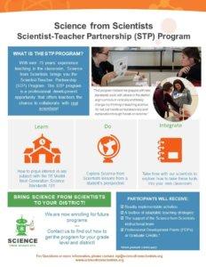 Flyer for STP program.