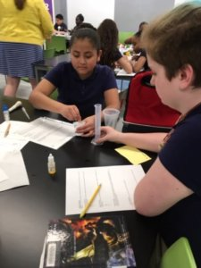 Students investiage food additives as part of an experiment