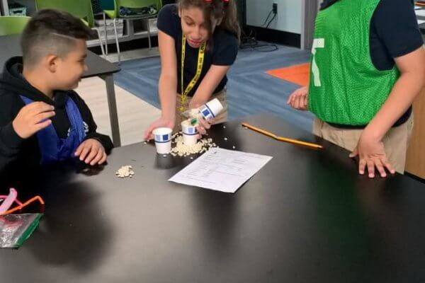 Students build landing gear for a Mars Rover.